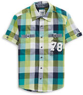 Manguun Short Sleeve Graphic Check Shirt