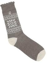 BearPaw Women's 1 Pack Fairisle Cotton Crew Socks