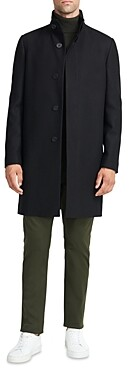Theory Belvin Regular Fit Traceable Wool Blend Coat