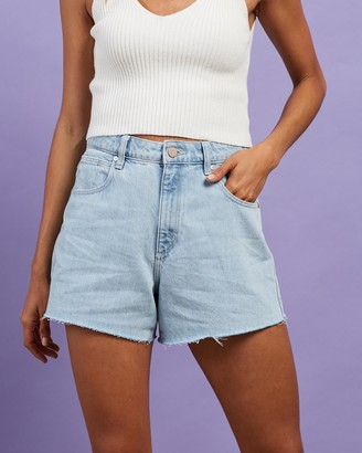 Abrand - Women's Blue Denim - A Venice Shorts - Size 24 at The Iconic