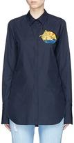 Stella McCartney Sunset embroidered patch poplin shirt