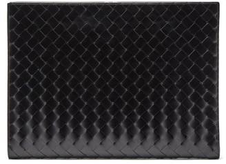 Bottega Veneta Intrecciato-leather Document Holder - Mens - Black