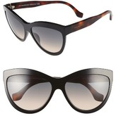 Balenciaga Women's Paris 60Mm Sunglasses - Black/ Havana/ Gold/ Smoke