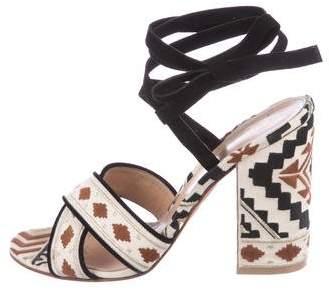 Gianvito Rossi Embroidered Crossover Sandals