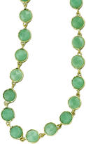 """Irene Neuwirth 34"""" Rose Cut Chrysoprase Chain Necklace - Yellow Gold"""