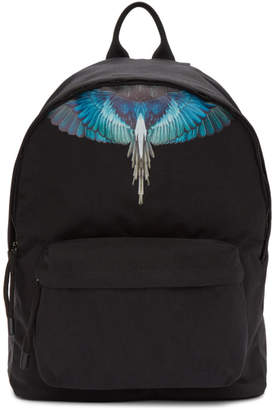 Marcelo Burlon County of Milan Black Canvas Wings Backpack