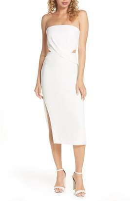 Finders Keepers Elena Strapless Plisse Dress