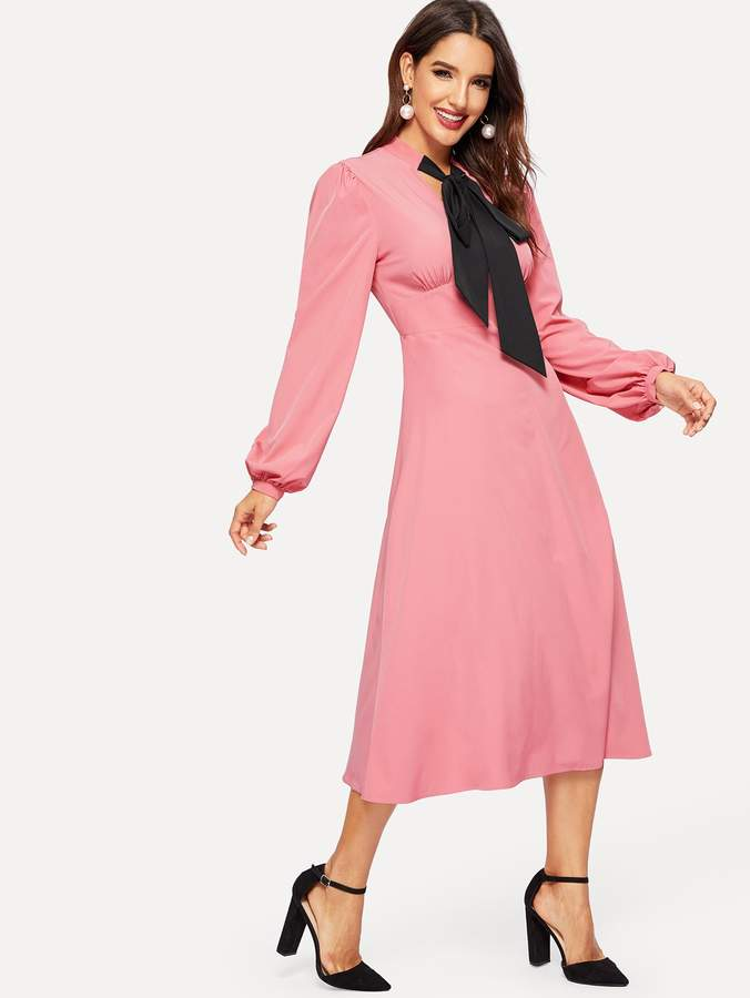 83d150e31910 Shein Pink Fitted Dresses - ShopStyle