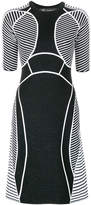 Versace graphic knit panelled dress