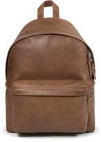Eastpak Padded Pak'r Leather Backpack Brown