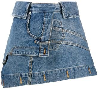 Alexander Wang Deconstructed denim skirt