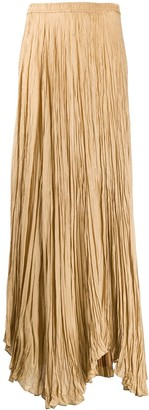 Joseph Handkerchief-Hem Pleated Maxi Skirt