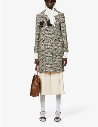 Gucci A-line tweed coat