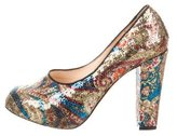 Carven Sequined Paisley Pumps