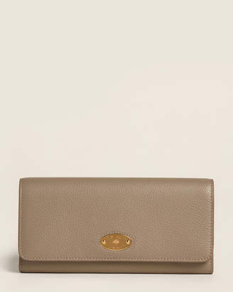 Mulberry Solid Grey Plaque Flap Leather Wallet