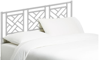 David Francis Furniture Chippendale Headboard - White Queen