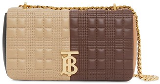 Burberry small quilted colour-block Lola bag
