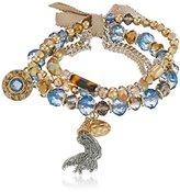 """lonna & lilly Blue Horizons"""" Set of 3 Blue Stretch Bracelet"""