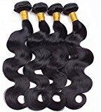 Vinsteen Hair 4 Bundles Brazilian Virgin Hair Body Wave Bundles 100% Unprocessed Brazilian Body Wave Hair Top Human Hair Extensions (12 14 16 18)