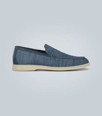 Loro Piana Summer Walk canvas moccasins