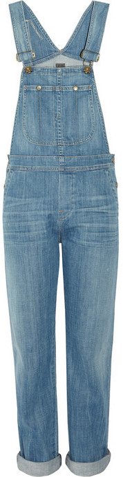 Citizens of Humanity Quincy distressed stretch-denim overalls