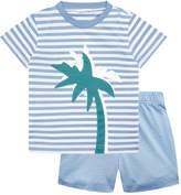 Il Gufo Palm Tree T-Shirt and Short Set