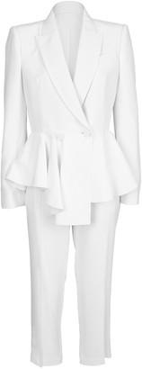 Alexander McQueen Peplum Jacket and Pant Suit
