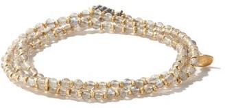M. Cohen The Agora Light Labradorite & 18kt Gold Bracelet - White