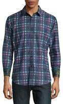 Robert Graham Neerav Cotton Button-Down Shirt