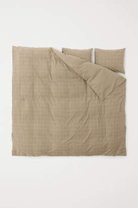 H&M Flannel Duvet Cover Set