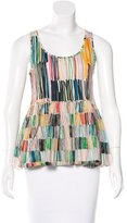 Piazza Sempione Sleeveless Printed Top