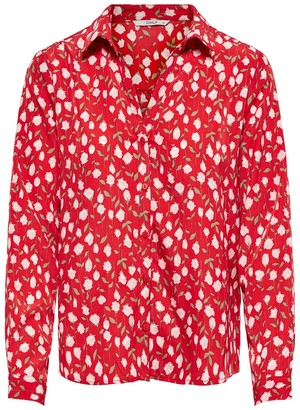 Only Floral Print Long-Sleeved Blouse