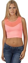 Hollywood Star Fashion Women's Sleeveless Mesh-back Sweetheart Crop Top