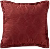 Remington Lodge Cabot Quilted Medallion Square Throw Pillow in Red