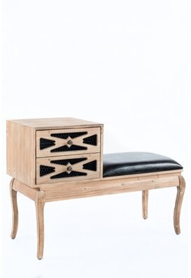 Statements By J Logan Leather Upholstered Storage Bench