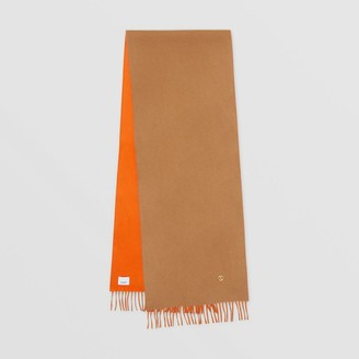 Burberry Reversible Monogram Motif Cashmere Scarf