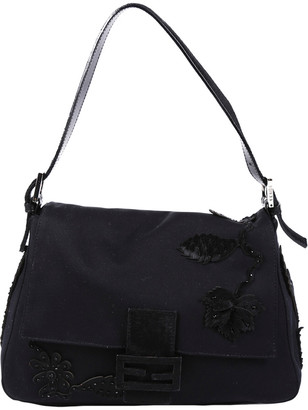 Fendi Black Textile Mama Baguette Shoulder Bag