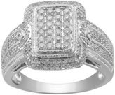 JCPenney FINE JEWELRY CT. T.W. Diamond Square-Center Ring