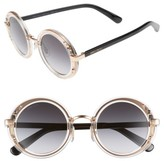 Jimmy Choo Women's Gems 48Mm Round Sunglasses - Crystal/ Gold/ Black