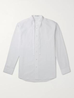 J.W.Anderson Grandad-Collar Tie-Detailed Cotton Shirt