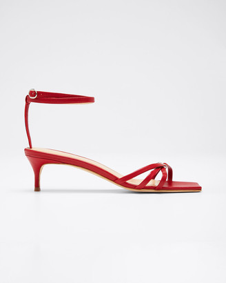 BY FAR Kaia Leather Ankle Sandals