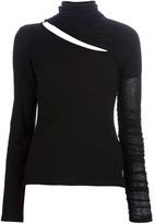 Balmain Pierre slit high neck sweater