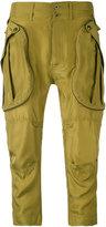 Faith Connexion drop-crotch cropped trousers - women - Silk - M