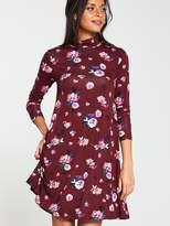 Very Roll Neck Swing Dress - Print