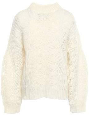 IRO Markle Brushed Open-knit Sweater