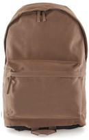 Topman Men's Faux Suede Backpack - Brown
