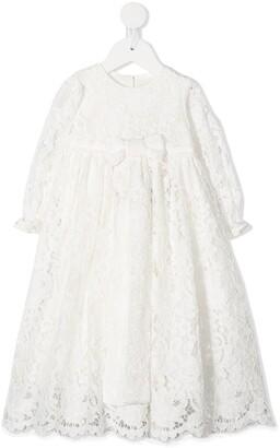 Dolce & Gabbana Kids A-line lace dress
