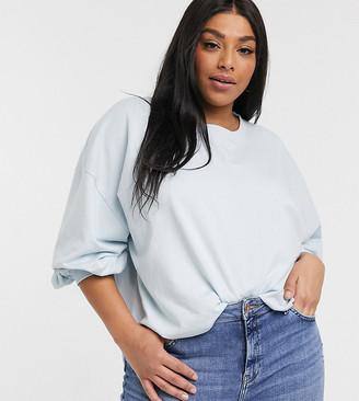 Urban Bliss Plus balloon sleeve sweater in blue