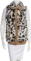 Jocelyn Fur Front Knit Vest w/ Tags