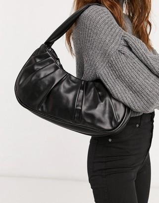 ASOS DESIGN slouchy shoulder bag in black